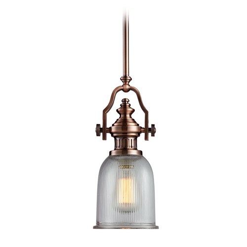 Elk Lighting Mini-Pendant Light with Clear Glass 66751-1