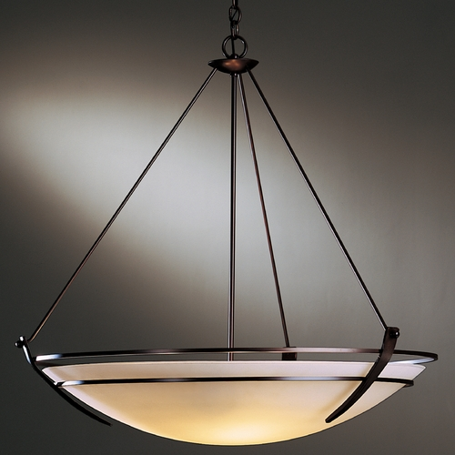 Hubbardton Forge Lighting Hubbardton Forge Lighting Tryne Mahogany Pendant Light with Bowl / Dome Shade 19443010-03-G170