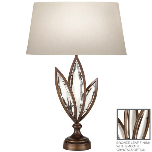 Fine Art Lamps Fine Art Lamps Marquise Antique Hand Rubbed Bronze Table Lamp with Oval Shade 854410-31ST