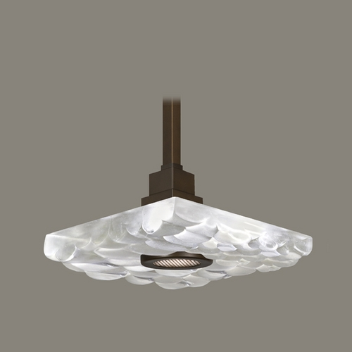 Fine Art Lamps Fine Art Lamps Crystal Bakehouse Bronze Pendant Light with Square Shade 818840-14ST