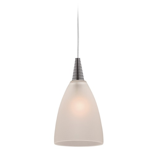 Access Lighting Access Lighting Zeta Mania Brushed Steel Mini-Pendant Light with Bowl / Dome Shade 94019UJ-BS/FST