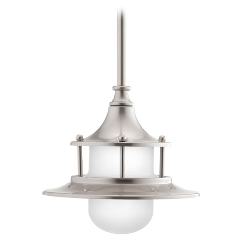 Progress Lighting Progress Lighting Parlay Brushed Nickel LED Mini-Pendant Light with Bowl / Dome Shade P5329-0930K9