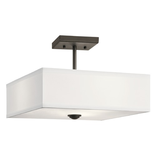 Kichler Lighting Modern Semi-Flushmount Light Olde Bronze Shailene by Kichler Lighting 43691OZ