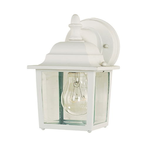 Maxim Lighting Outdoor Wall Light with Clear Glass in White Finish 1025WT