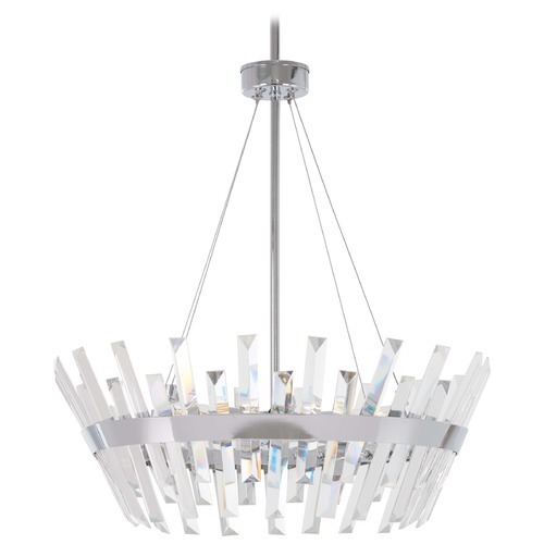 Minka Lavery Minka Lavery Echo Radiance Chrome Pendant Light with Abstract Shade 4816-77