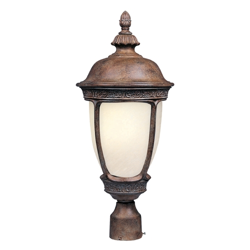 Maxim Lighting Post Light with Beige / Cream Glass in Sienna Finish 85460SFSE