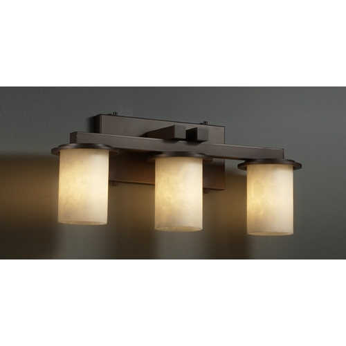 Justice Design Group Justice Design Group Clouds Collection Bathroom Light CLD-8773-10-DBRZ