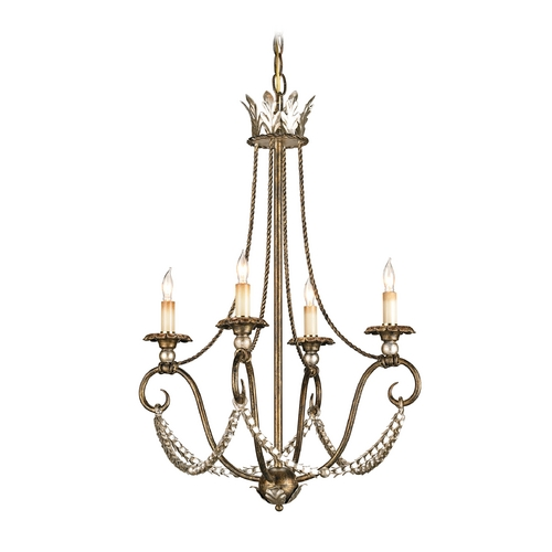 Currey and Company Lighting Mini-Chandelier in Barcelona Gold Finish 9461