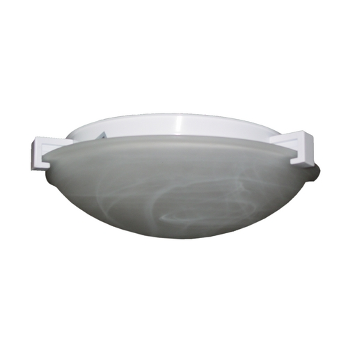 PLC Lighting Modern Flushmount Light with White Glass in Rust Finish 7019  RU