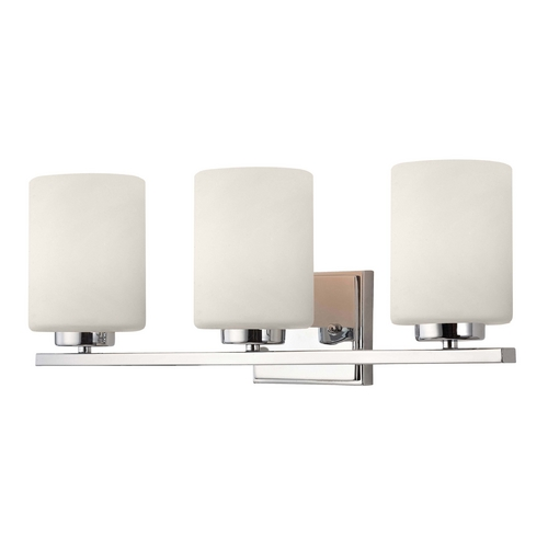 Dolan Designs Lighting Modern Bathroom Light with Three Lights and Cylinder Glass Shades 3883-26