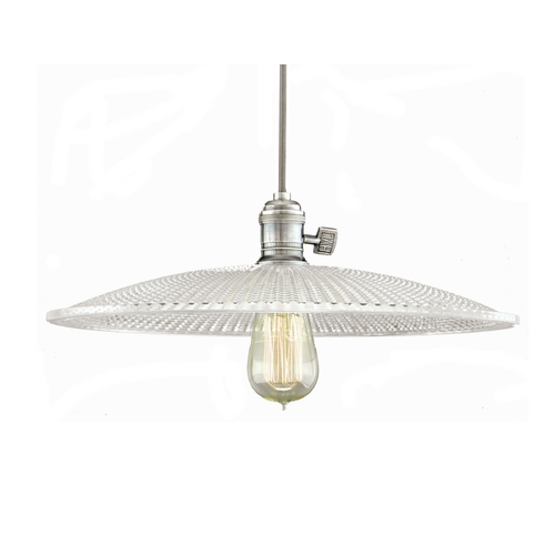 Hudson Valley Lighting 12-Inch Pendant with Prismatic Glass Shade 8001-PN-GM4