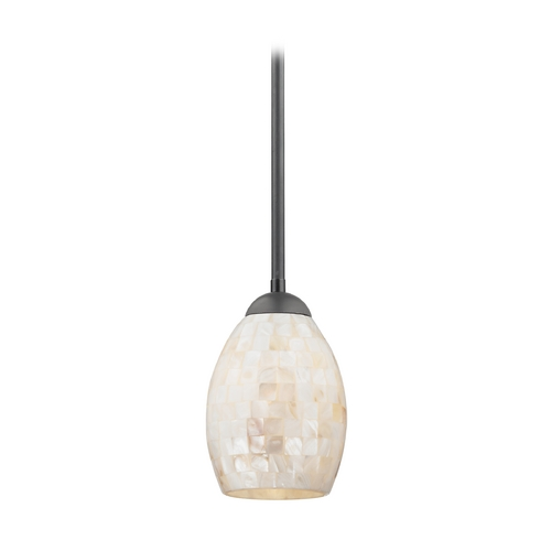 Design Classics Lighting Mini-Pendant Light with Mosaic Glass 581-07  GL1034