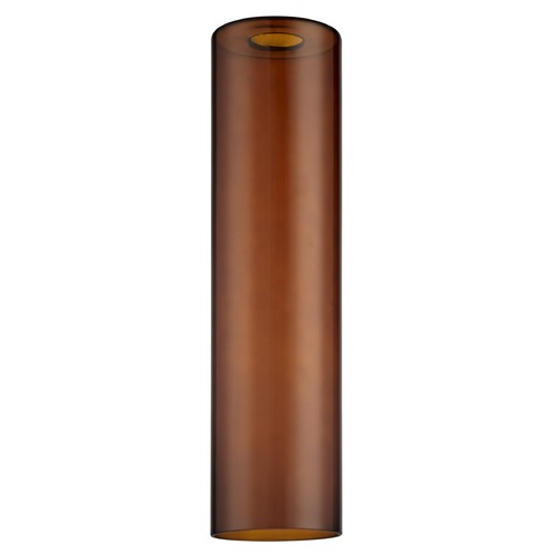 Design Classics Lighting 16-Inch Tall Light Brown Cylinder Glass Shade with 1-5/8 Fitter GL1651C
