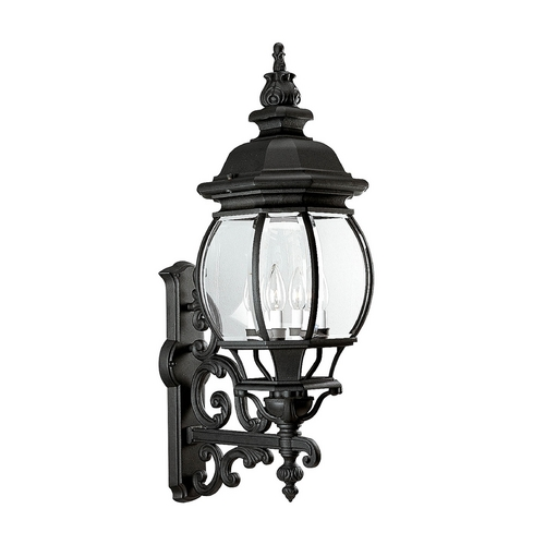 Progress Lighting Progress Outdoor Wall Light with Clear Glass in Textured Black Finish P5701-31