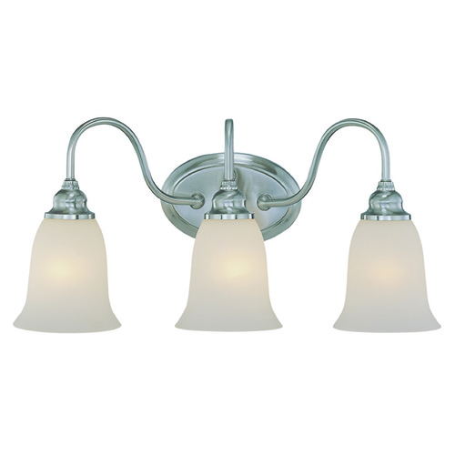 Craftmade Lighting Craftmade Linden Lane Satin Nickel Bathroom Light 26303-SN