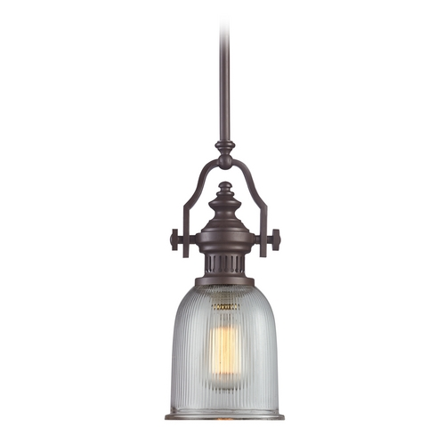 Elk Lighting Mini-Pendant Light with Clear Glass 66761-1