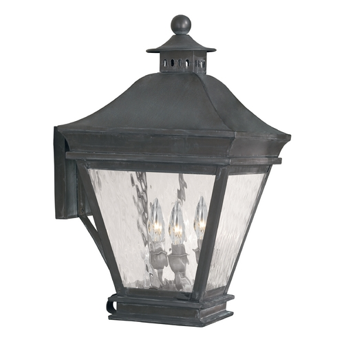 Elk Lighting Outdoor Wall Light with Clear Glass in Charcoal Finish 5722-C
