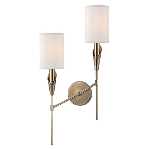 Hudson Valley Lighting Hudson Valley Lighting Tate Aged Brass Sconce 1312L-AGB