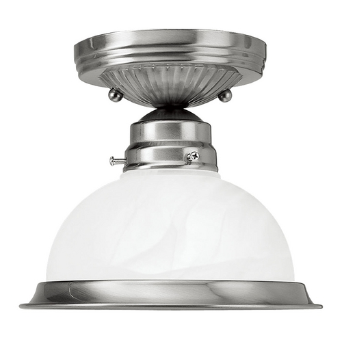 Livex Lighting Livex Lighting Brushed Nickel Semi-Flushmount Light 8106-91