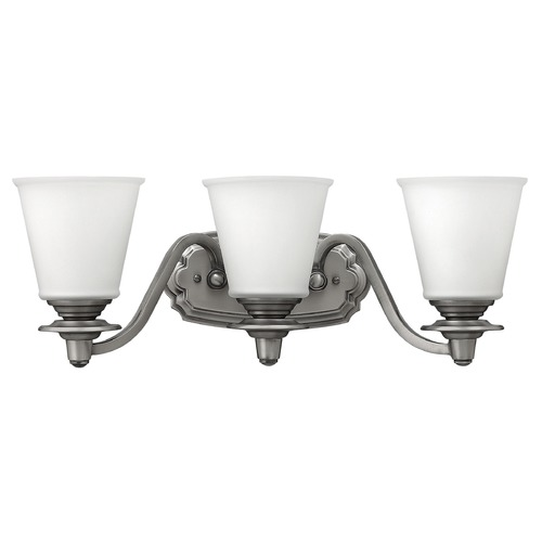 Hinkley Lighting Hinkley Lighting Plymouth Polished Antique Nickel Bathroom Light 54263PL