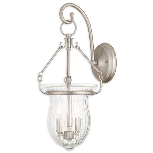 Livex Lighting Livex Lighting Andover Brushed Nickel Sconce 50940-91