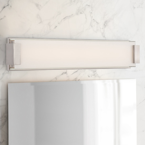Modern Forms by WAC Lighting Modern Forms Polar Chrome LED Vertical Bathroom Light 3000K 960LM WS-3226-CH