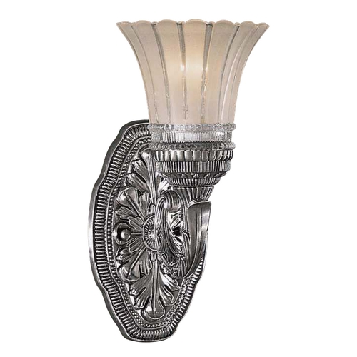 Minka Lavery Sconce with White Glass in Brushed Nickel Finish 5761-2560-84
