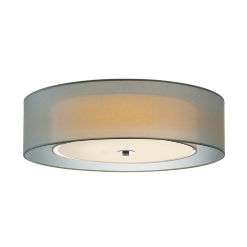 Sonneman Lighting Modern Flushmount Light with Silver Shades in Satin Nickel Finish 6014.13F