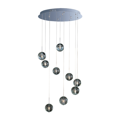 ET2 Lighting Modern Low Voltage Multi-Light Pendant Light 9-Lights E24254-91PC