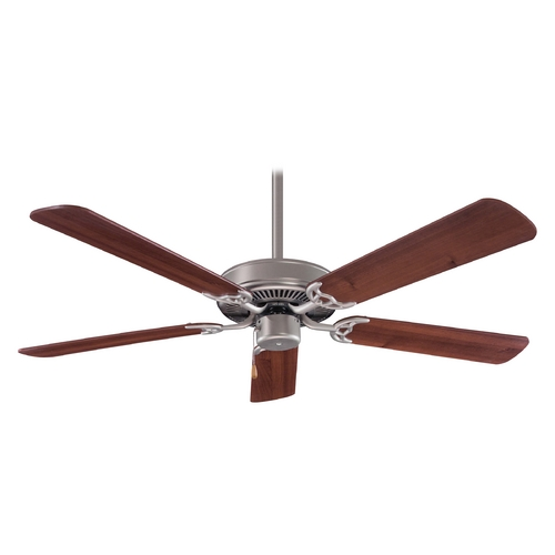 Minka Aire Ceiling Fan Without Light in Brushed Steel Finish F547-BS/DW