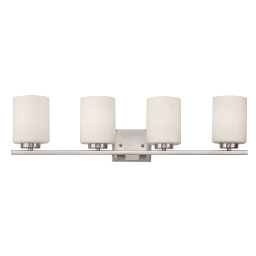 Dolan Designs Lighting Contemporary Satin Nickel Bathroom Light with Four Lights 3884-09