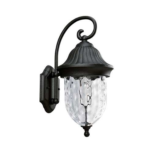 Progress Lighting Progress Outdoor Wall Light with Clear Glass in Textured Black Finish P5828-31