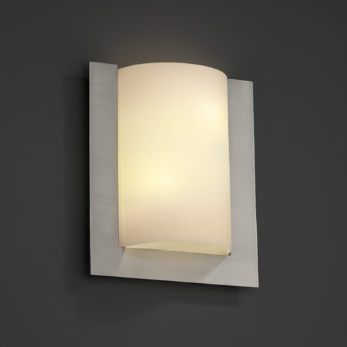 Justice Design Group Justice Design Group Fusion Collection Sconce FSN-5562-OPAL-NCKL