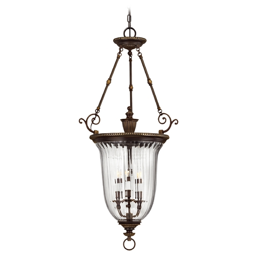 Hinkley Lighting Pendant Light with Clear Glass in Olde Bronze Finish 3614OB