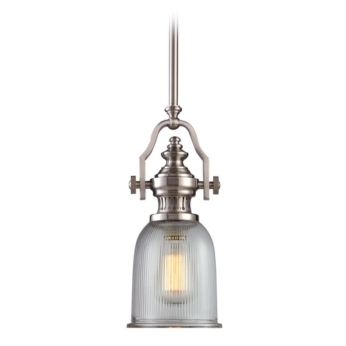 Elk Lighting Mini-Pendant Light with Clear Glass 66771-1