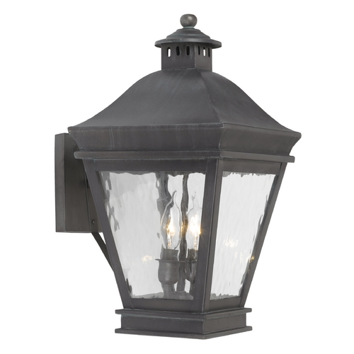Elk Lighting Outdoor Wall Light with Clear Glass in Charcoal Finish 5721-C