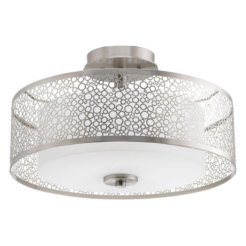 Progress Lighting Progress Lighting Mingle Brushed Nickel Semi-Flushmount Light P3565-09