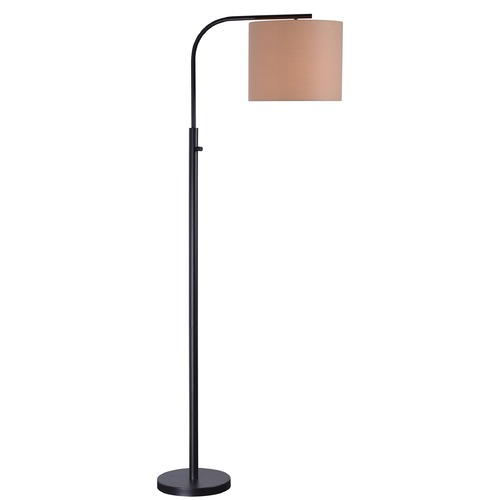 Kenroy Home Lighting Kenroy Home Bridgeton Bronze Arc Lamp with Drum Shade 32846BRZ