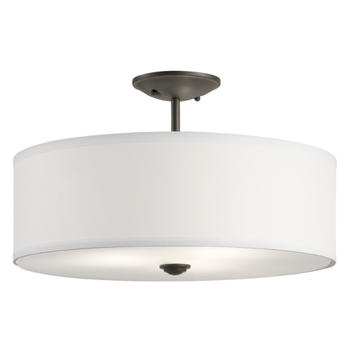 Kichler Lighting Modern Semi-Flushmount Light Olde Bronze Shailene by Kichler Lighting 43692OZ