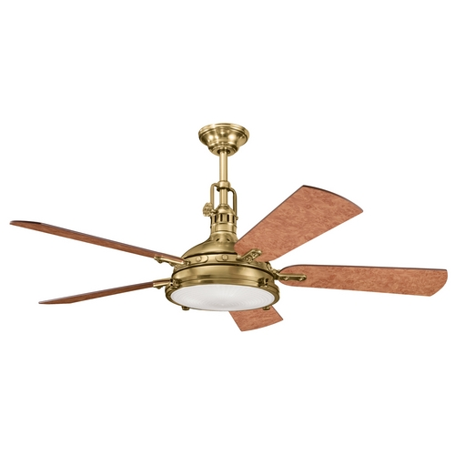 Kichler Lighting Kichler Burnished Brass Ceiling Fan with Light Kit 300018BAB