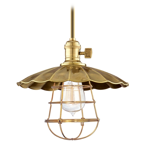 Hudson Valley Lighting Mini-Pendant Light 9001-AGB-MS2-WG