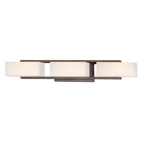 Designers Fountain Lighting Modern Bathroom Light with White Glass in Tuscana Finish 6633-TU