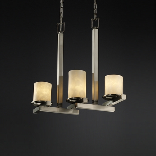 Justice Design Group Justice Design Group Clouds Collection Pendant Light CLD-8777-10-NCKL