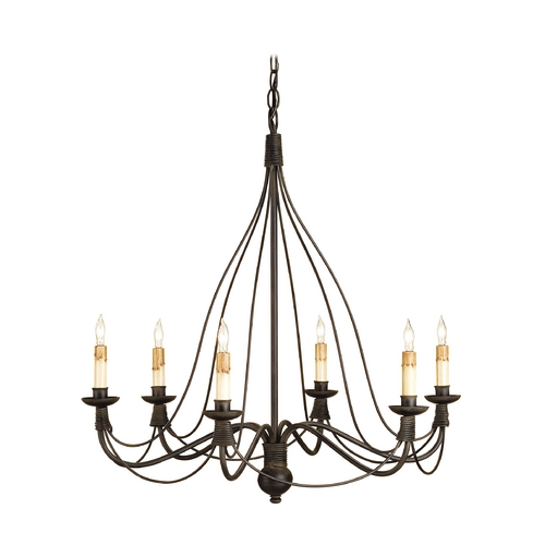 Currey and Company Lighting Chandelier in Blacksmith Finish 9421
