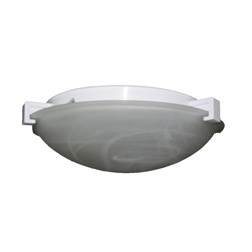 PLC Lighting Modern Flushmount Light with White Glass in Polished Brass Finish 7019 PB