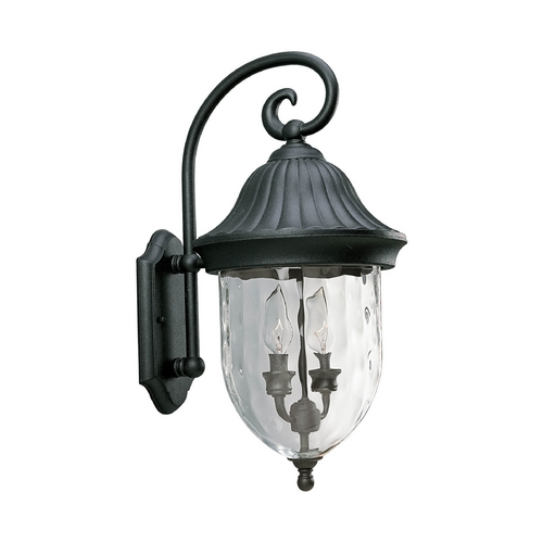 Progress Lighting Progress Outdoor Wall Light with Clear Glass in Textured Black Finish P5829-31