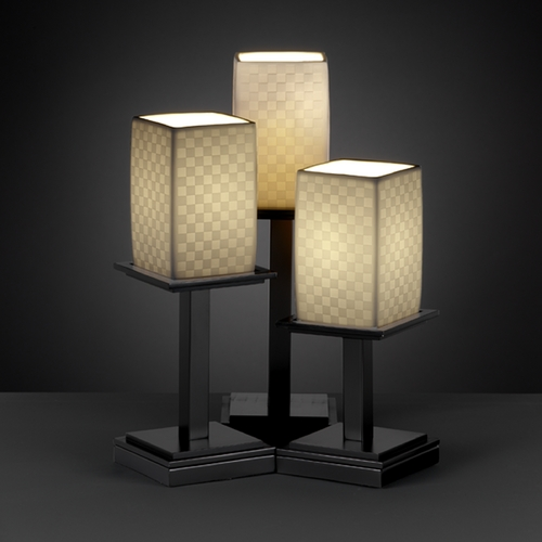 Justice Design Group Justice Design Group Limoges Collection Table Lamp POR-8697-15-CHKR-MBLK