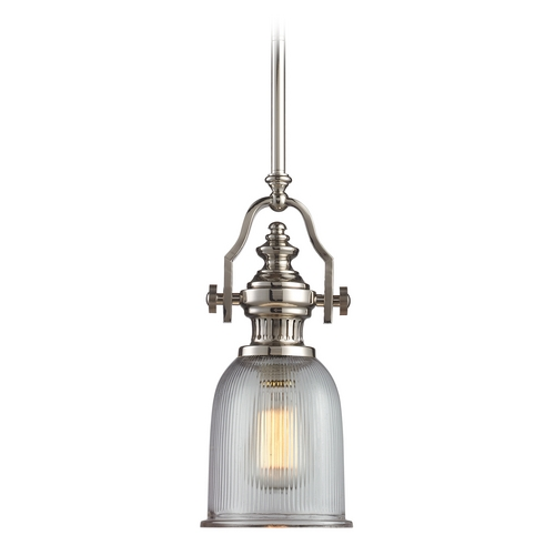 Elk Lighting Mini-Pendant Light with Clear Glass 66781-1
