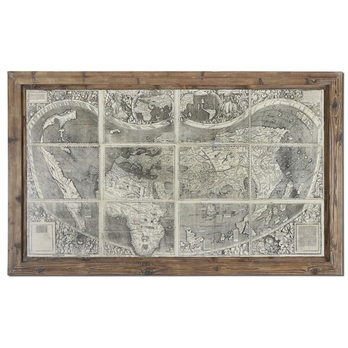 Uttermost Lighting Uttermost Treasure Map Framed Art 34025