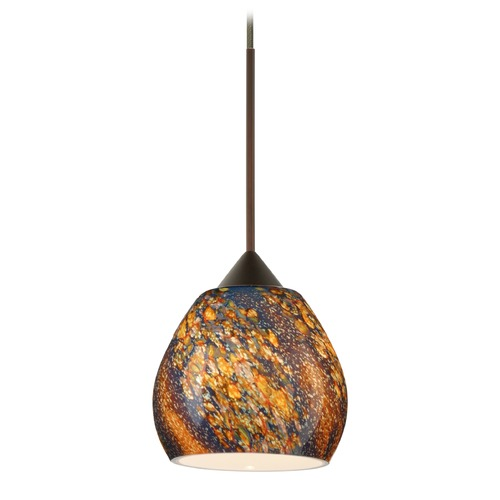 Besa Lighting Besa Lighting Tay Bronze LED Mini-Pendant Light with Bell Shade 1XT-5605CE-LED-BR